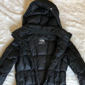 Long North Face Puffer Down Coat
